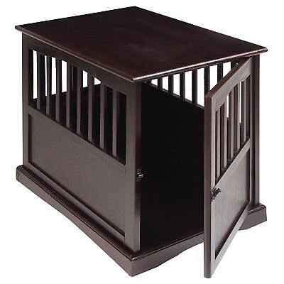 Dog Kennel Wood Bed Large Crate Oversized Pet Cage Wooden Furniture End Table 24