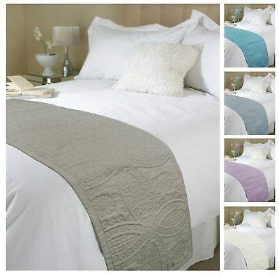 Luxury Parisienne Quilted Bed Runner, Double King Bed Throw, 45 x 220 cm