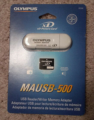 NEW Olympus MAUSB-500 xD picture card USB Reader /Writer Memory Adapter