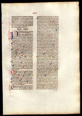 Early 1477 Incunable Commentary on  Sentences of Peter Lombard Bishop of Paris