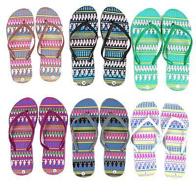 Lot of 96 Pairs Wholesale Women's Printed Flip Flops Sandals Flip Flop