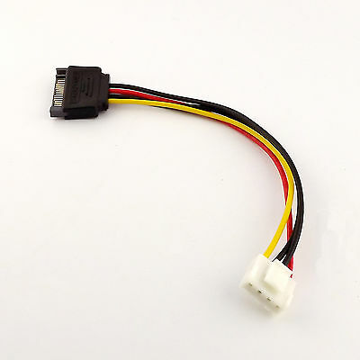 1pcs 15-Pin SATA Male to 4-Pin Floppy FDD Female Power Converter Adapter Cable