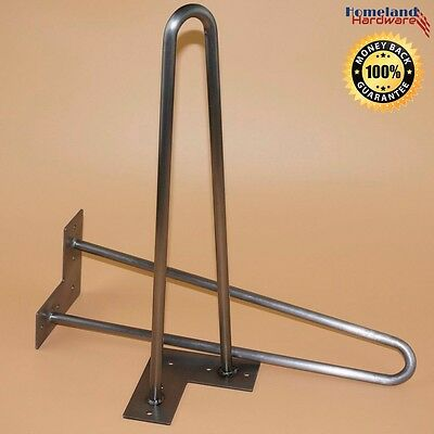 """[NEW] 16"""" (2-Rod)  Hairpin Legs [1/2 inch] RAW [Set of 4]"""