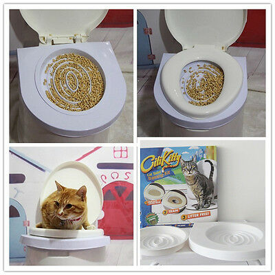 HOT Cat Toilet Mat  Pet Supplies Potty Pads Seat Toilet Training System Kit Tray