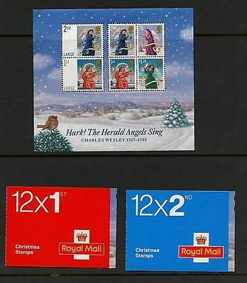 Great Britian 2007 #2523, 24A,25A  Christmas angels Charles Wesley MNH J545