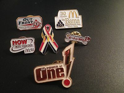 McDonald's Collector Pins Including the POWER of One Pin