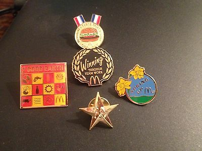 McDonald's Collector Pins Including Spring Up Pin