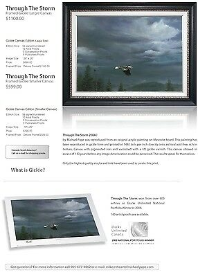 """Ducks Unlimited Print """"Through the Storm by Michael Pape - Framed"""