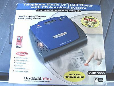New in box Telephone music on hold player with CD autoload system OHP 5000