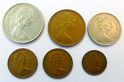 Lot Of Six Different British Coins 1968-1973