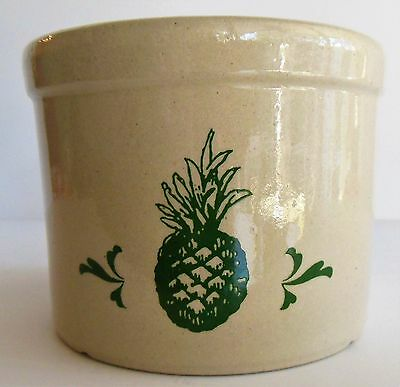Vintage RRP 1 Pint Crock Roseville Ohio Robinson Ransbottom USA Pineapple Tiki