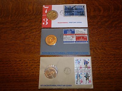Bicentennial First Day Cover 1973,1975,1976 Commemorative Medal