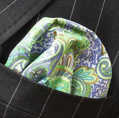 Hankie Pocket Square Handkerchief  AQUAGREEN - Premium Cotton - UK Made