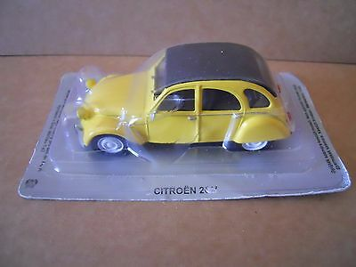 CITROEN 2 CV GIALLA Legendary Cars Auto Die Cast Scala  1:43 MZ