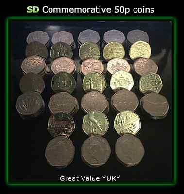 50p Commemorative Coins Hunt  Various and Rare coins all in Great condition