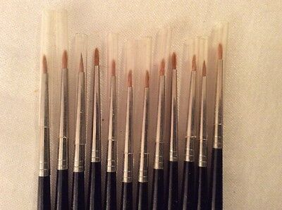 12 Lot - KROMA 0 BRUSHES Photo Retouching Brush - Made in ENGLAND NEW  & SPOTONE