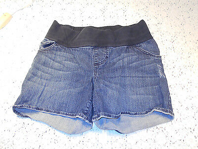 Liz Lange Maternity Stretch Denim Blue Jean Shorts - Size S
