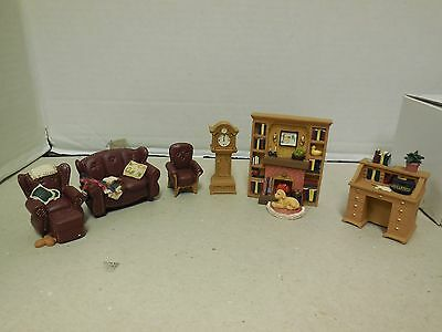 """Avon Miniature Furniture Collectibles Victorian Memories """"The Living Room"""""""