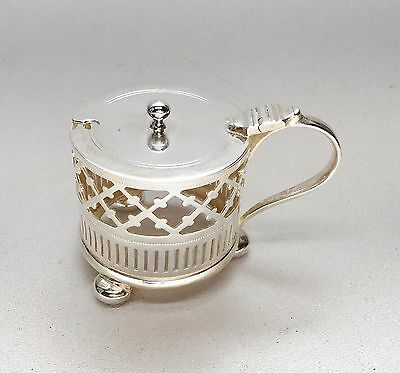 Antique Nathanial Smith Sheffield Sterling Silver Mustard Pot
