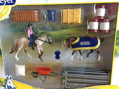 Breyer Collectable Horses Stablemate Western Play Set