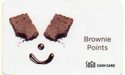 SOGO RESTAURANT GROUP GIFT CARD no value BROWNIE POINTS