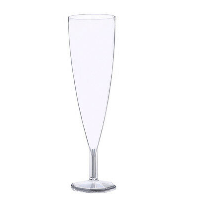 5oz Clear 1-Piece Plastic Champagne Flute/Glasses - 24ct Plastic Glasses