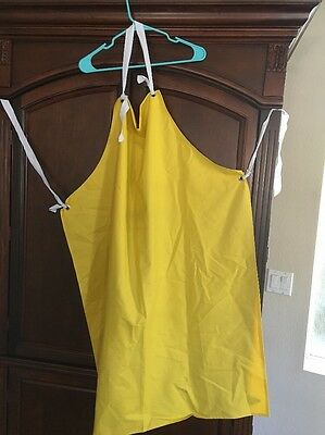 Yellow Adult Rubber Chemistry Lab Apron