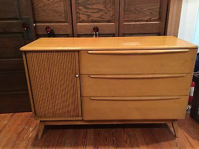 Vintage Mid Century Modern HEYWOOD WAKEFIELD TAMBOUR BUFFET Server Credenza MCM