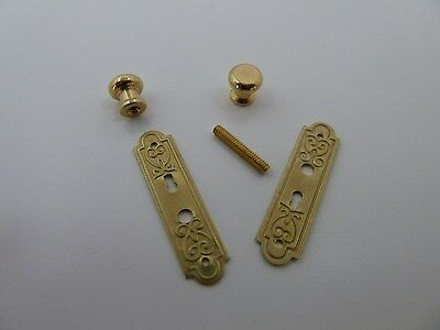 Dolls House Miniature 1:12th Scale Hardware Door Furniture Door Plate (HW23)