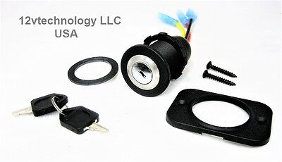 Replacement Key Switch SPDT Stainless Steel Panel  Mount 12V  Ignition Engine