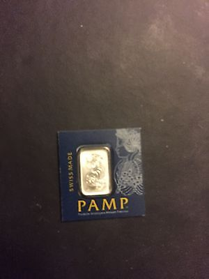 1 X 1 gram Pamp Suisse Platinum bullion bar veriscan