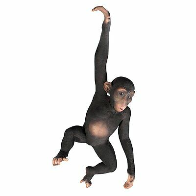 Monkey Chimp Chimpanzee Statue African Animal Garden Sculpture Hanging Art Decor