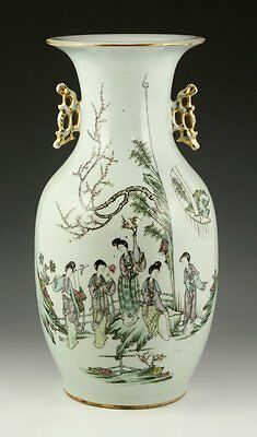 A Chinese Republic Period Famille Rose Vase, Marked.