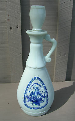 Old Vintage 1963 Gilbey's Ship Windmill Sailboat Decanter w Stopper Liquor Decor