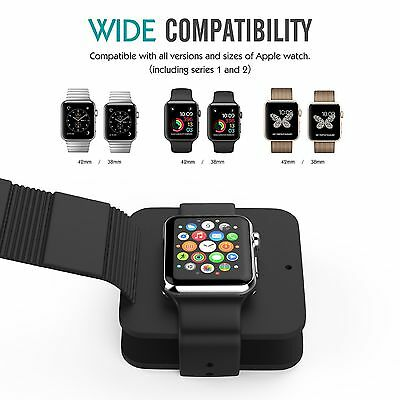 For Apple Watch 38mm & 42mm Series 1 & 2 Cable Organizing Charging Dock Station
