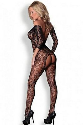SEXY bodystocking ouvert ouverture entrejambe combinaison catsuit body résille