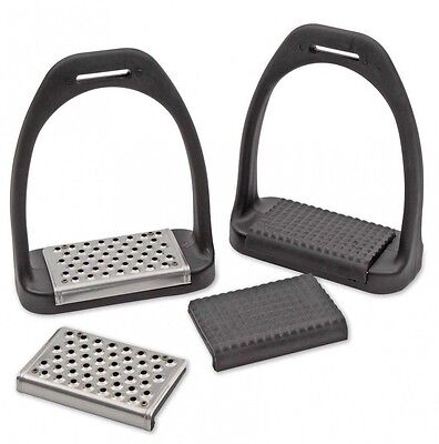 Shires Lightweight Stirrups Stirrup Irons Interchangeable Treads - Cheese Grater