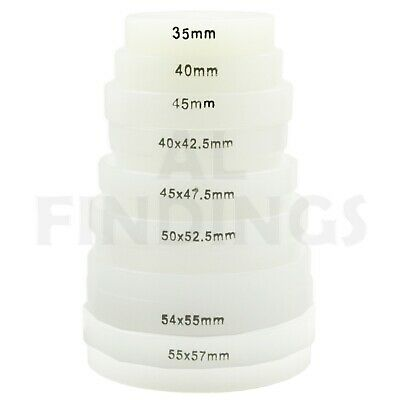 8 XLarge Nylon Push On Dies For Watch Case Back and Glass Presses 35mm to 57mm