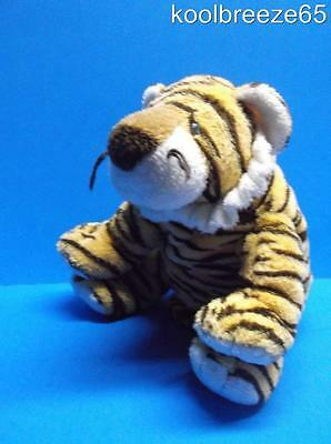 Ty GROWLERS Bengal Tiger Tylux Pluffies Soft Plush Toy Sewn Eyes Baby Lovey
