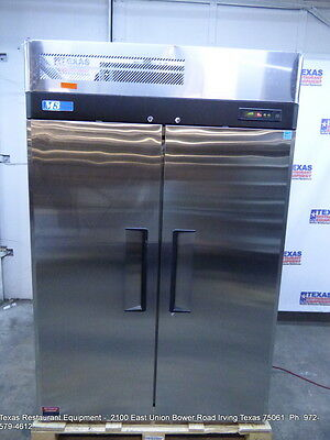 Turbo Air M3F47-2 Stainless Steel 2 Solid Door Freezer on casters