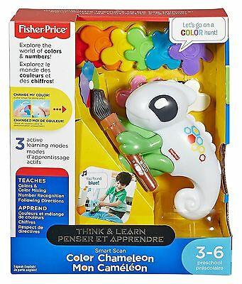 New FISHER-PRICE SMART SCAN COLOR CHANGING CHAMELEON - NAMES THE COLOR FOR YOU