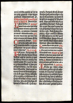 1499 1st Edition German Missal Leaf 4th Sunday in Lent John 6, 1-15 Loaves Fish