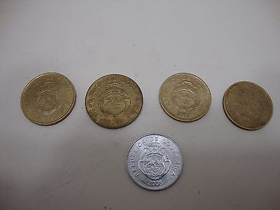 Costa Rica Coins - 10 and 25 Colones 1999-2005