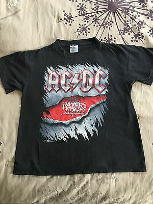 Vintage AC/DC 1990 Razors Edge Original Concert Shirt Large Brockum Great Cond.