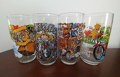 McDonald's 1981 The Great Muppet Caper- Set of 4 Glasses