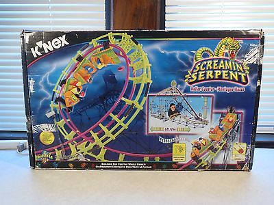 KNEX Retired #63153 Screamin Serpent Roller Coaster 1280 Pieces incomplete