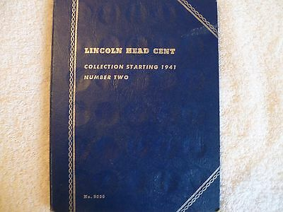 Lincoln wheat penny  book #2 1941-1975