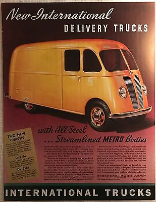 1939 INTERNATIONAL DELIVERY TRUCK AD From Colliers Magazine