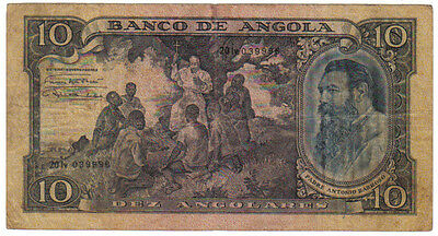 Portugal Angola 10 Angolares 1946 Pick 78 Look Scans
