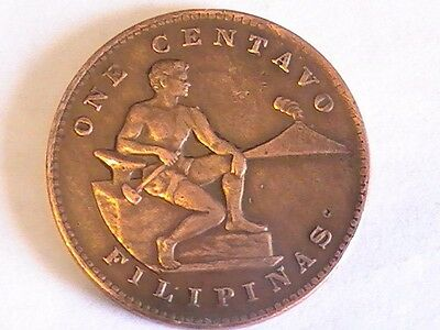 1944  One Centavo Filipinas United States of America Philippines WWII Coin